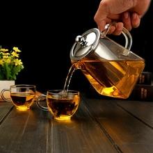 Heat Resistant Glass Teapot for Puer Tea Pot Tie Guanyin tea Black Tea Home Office Coffee Kettle 350ml/550ml/750ml 1l 1 5l big transparent borosilicate glass teapot heat resistant large clear tea pot flower tea set puer kettle office home tool