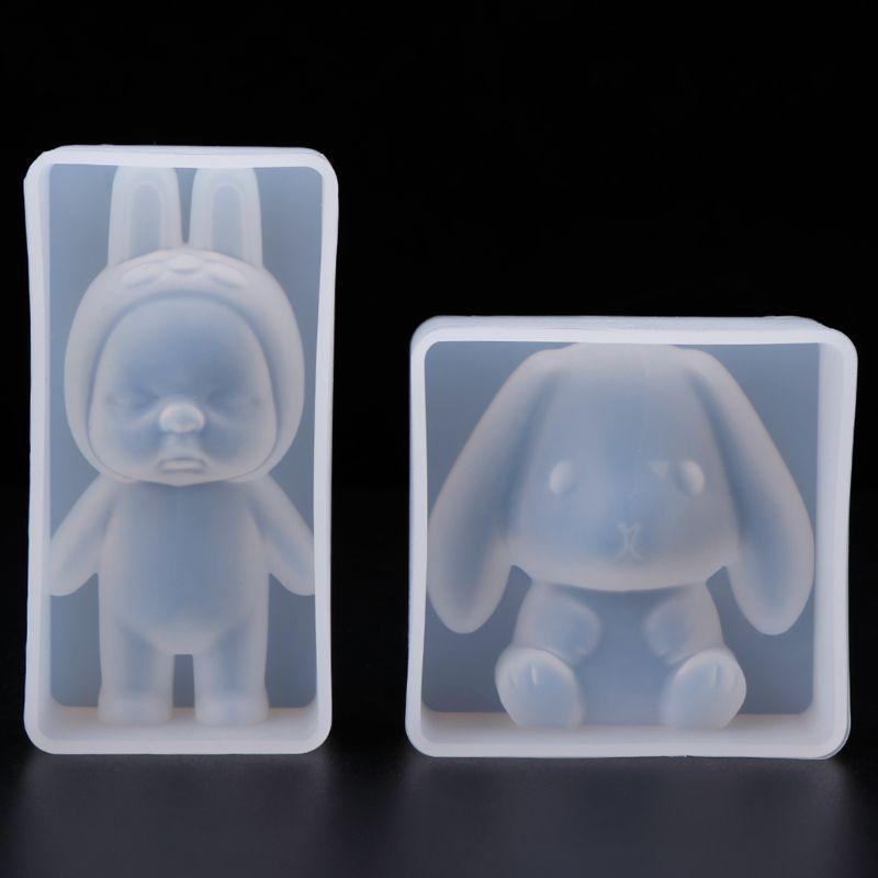 Silicone Mold Animal Bear Lion Rabbit Baby Molds DIY Jewelry Making Cake Fondant Chocolate Decoration Doll Gifts Handmade Crafts
