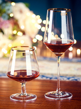 501mL-600mL Gold-rimmed Red Wine Cup High-foot Lead-free Crystal Glass Grape Bubble Champagne Cocktail Whisky Brandy Househo
