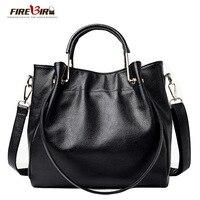 Women Genuine Leather Handbags Famous Brand Tote Bag Designer Handbag Spring Female Messenger Crossbody Bag For