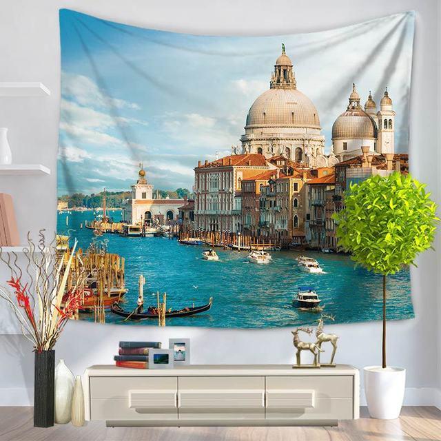 Summer Beach Paysage Tapisserie Tenture Salon Chambre Décoratif