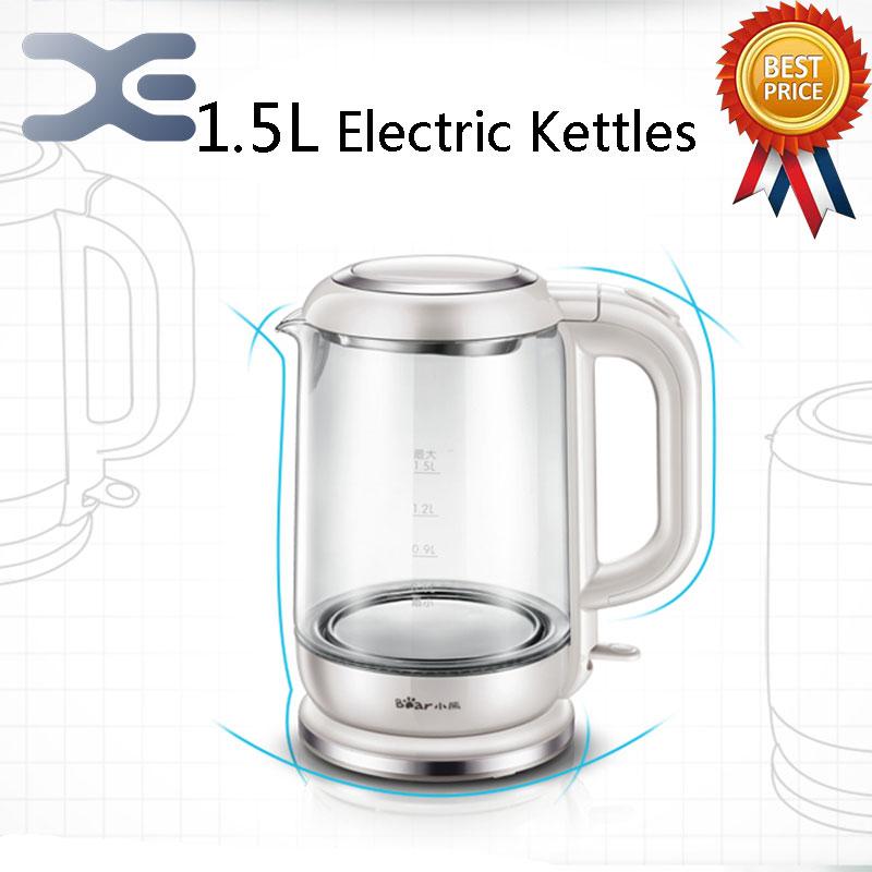 ФОТО 5Per Lot 1.5L Electric Kettle Automatic Power Off Glass Kettle Wasserkocher High Quality Water Heater Kettle