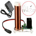 Mini Tubo De La Bobina de Tesla Bobina de Tesla Neon Glow Luz Indicadora de placa Transparente con la fuente de alimentación adaptador de EE.UU./UE envío Gratis