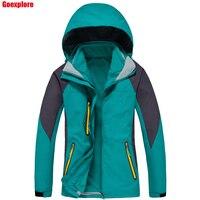Dropshipping 2016 Brand 2in1 Two Piece Jacket Climbing Sports Coat Outdoor Windproof Ski Waterproof Winter Jacket