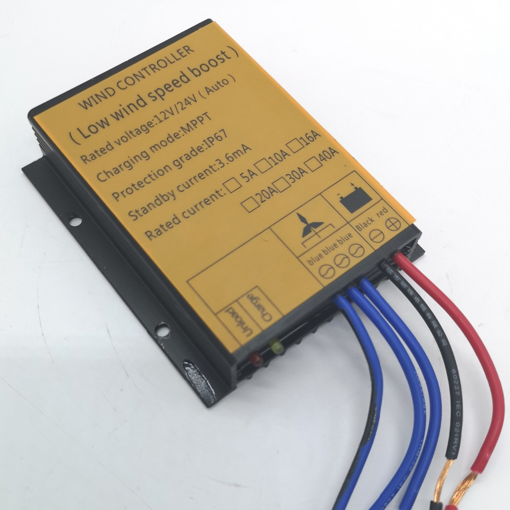 MPPT boost controller for wind turbine 400w 12V/24V auto switch off grid charge controller
