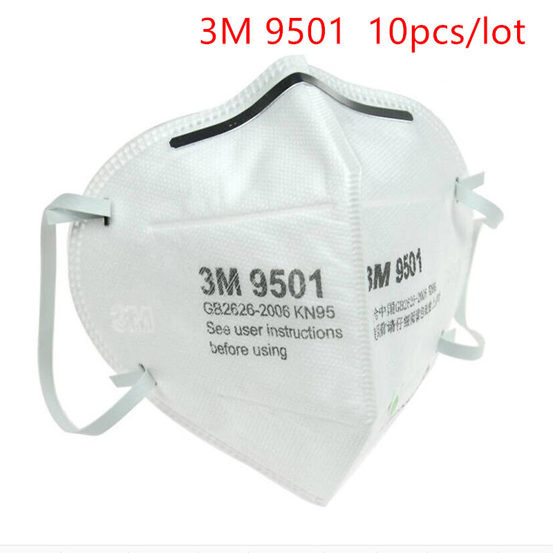 10pcs/lot 3M 9501 9502 Dust-proof Mask KN95 Particulate Respirator Anti-fog PM2.5 Anti influenza Safety Breathing Masks