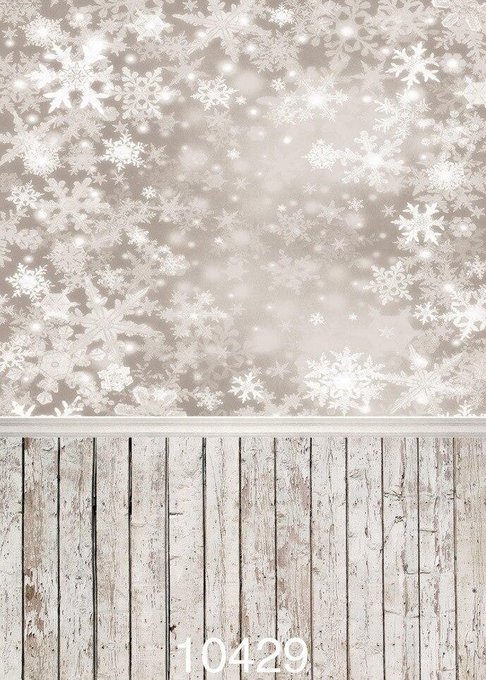 Dream Snow Wood Floor Photo Background Vinyl Photograph