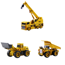 Mini Size RC Truck Excavator Remote Control Tractor Model 4CH Bulldozer Crane Dump Toys Diecasts Toy Vehicles