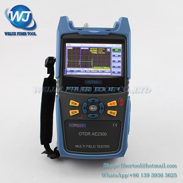 DEVISER AE2300 OTDR reflectómetro de dominio de tiempo óptico OTDR de fibra óptica fiber fault detector tester 30dB 0-90 KM