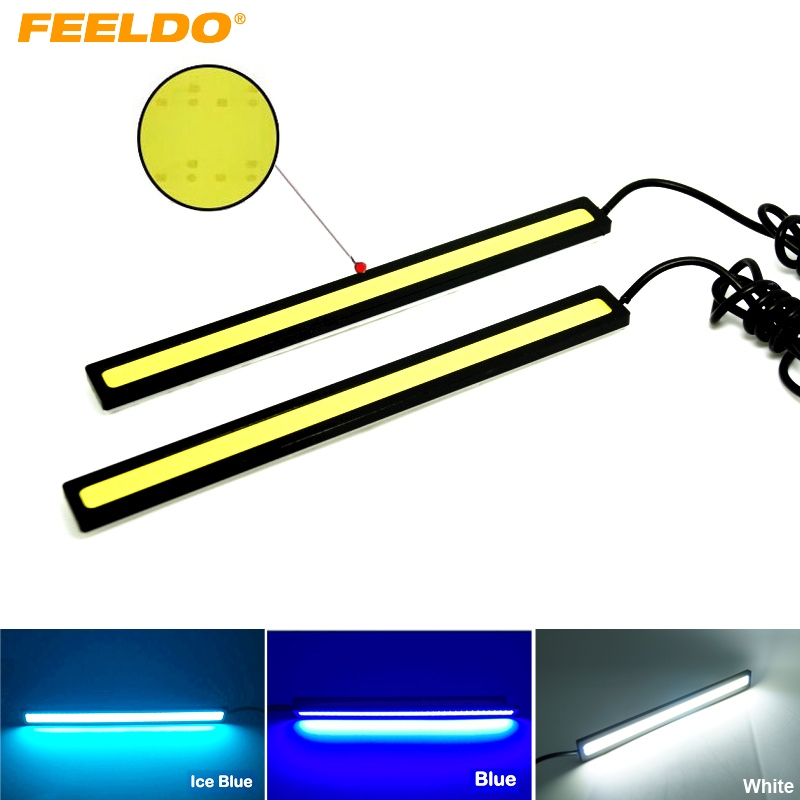 5Pair 17CM 6W COB LED Lights DRL Waterproof Daytime Running Light Auto Lamp External ights For Universal Car White/Blue/Ice blue universal waterproof white 5 led 90 lumen daytime running lights for car pair