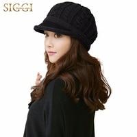 Siggi 100 Wool Knitted Newsboy Hat For Women Autumn And Winter Beret Fashion Warm Wool Hat