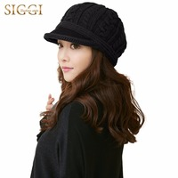 Siggi 100 Wool Knitted Newsboy Hat For Women Autumn And Winter Beret Fashion Warm Wool Hat