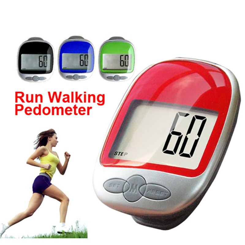 B2C Shop 88 Store LCD Run Step Pedometer Walking Distance Calorie Kilometer Miles Counter Passometer Large Screen Color send at random