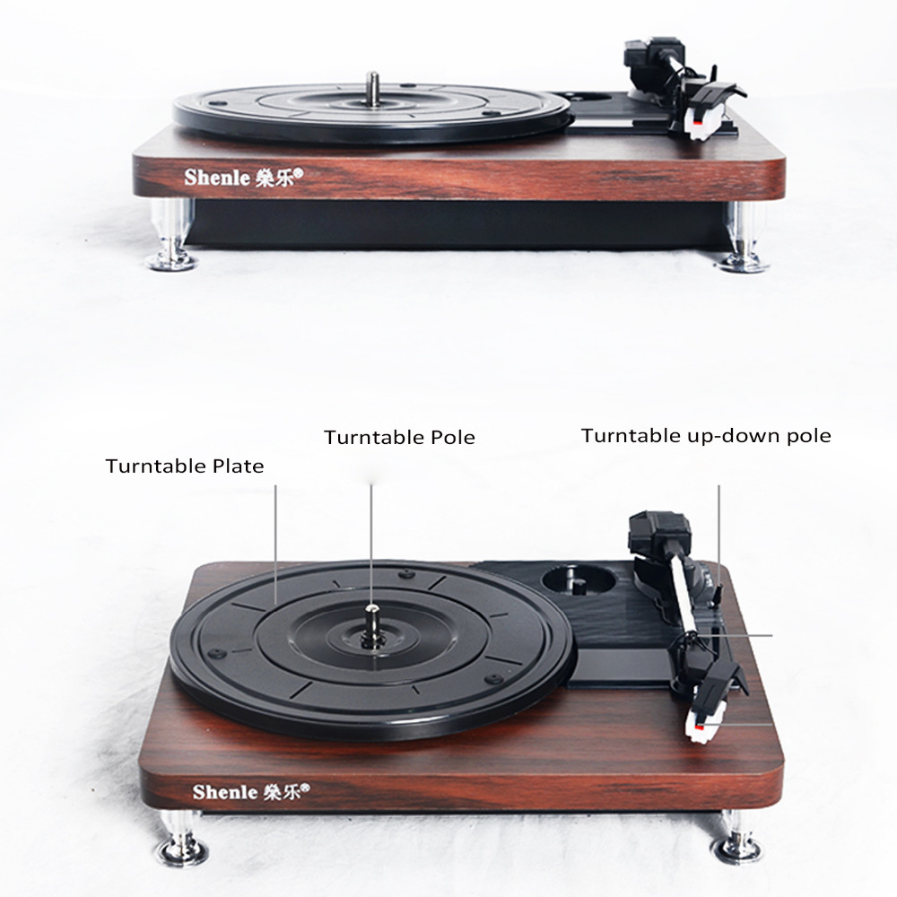 Action Platenspeler Us 77 66 Herdio Plattenspieler 33 Rpm Antikes Grammophon Plattenspieler Disc Vinyl Audio Record Player S Video Cinch Out Usb Ladegerät Dc5v Holz