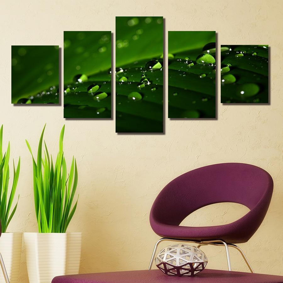 unids lienzo arte hd imprime pintura para pared de la sala de cama hoja verde