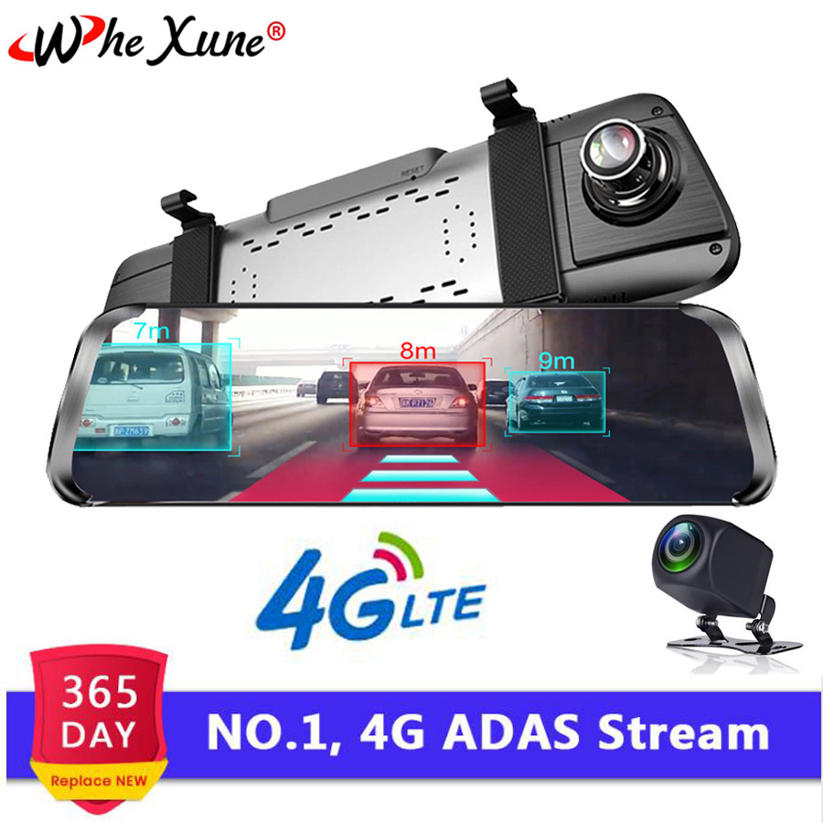 WHEXUNE 10 Inch 4G Android Rearview Mirror DVR 1080P Dash Camera GPS Navigation ADAS Night vision Dual Lens Car video recorderWHEXUNE 10 Inch 4G Android Rearview Mirror DVR 1080P Dash Camera GPS Navigation ADAS Night vision Dual Lens Car video recorder