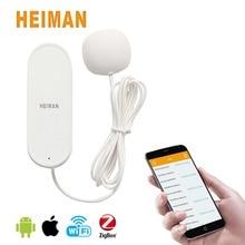 HEIMAN Low Power Consumption Smart Security Bathroom Laundry Water Leak Sensor Alert Detector with Battery HM-HS3WL