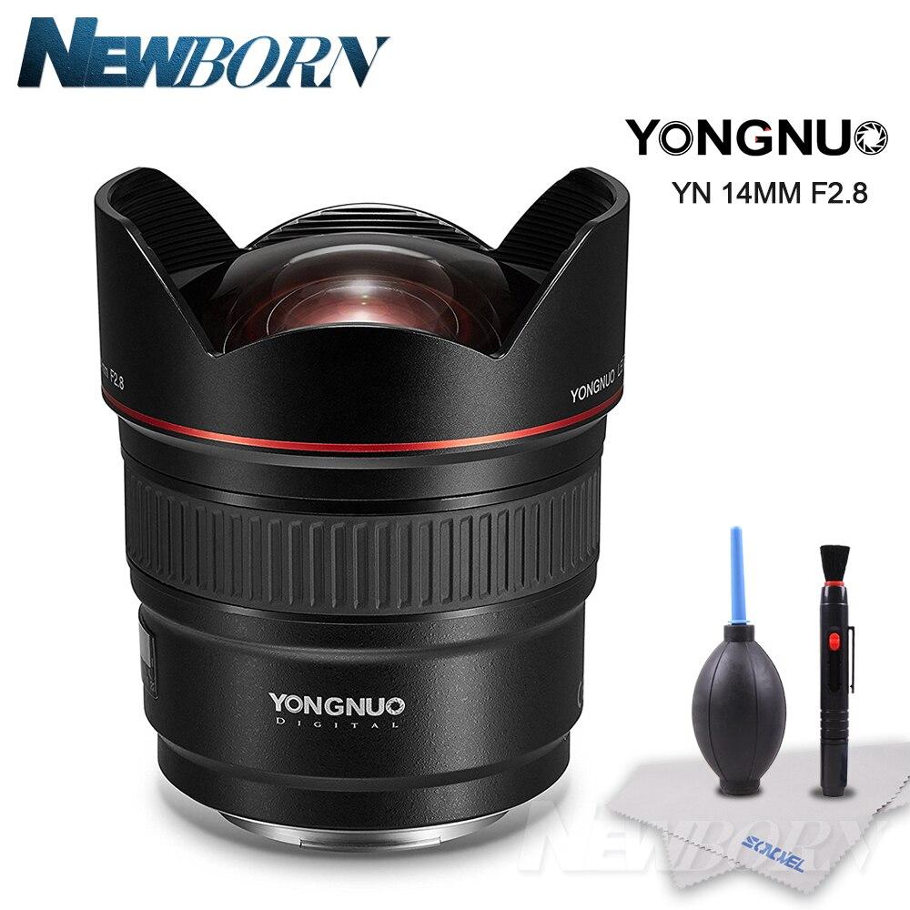 YONGNUO объектив yn14mm F2.8 AF MF Автофокус ультра Широкий формат объектив с фиксированным фокусным расстоянием 14 мм для Canon 5D Mark III IV 6D 700D 80d 70D DSLR Камер...