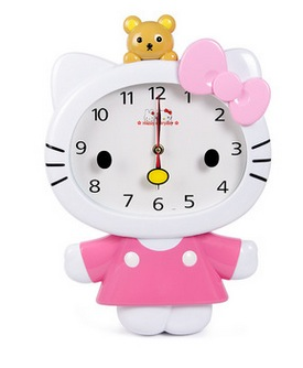 Wonderful High Quality Cute Cartoon Larger Size Hello Kitty My Melody Home Wall Clock  Best For Children Pictures