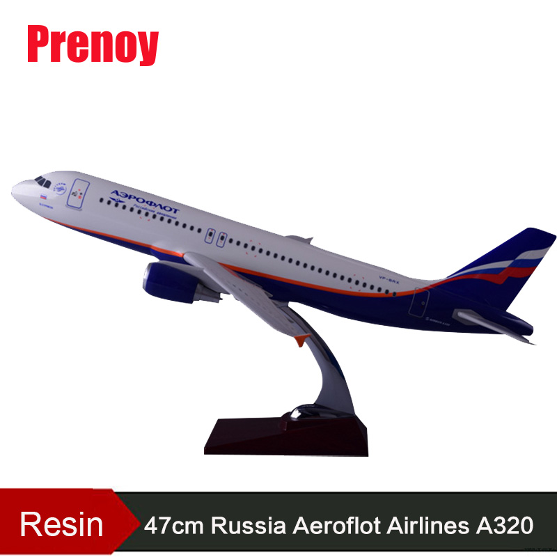 47 cm Résine Russie Airlines Airbus Modèle A320 Avions Aeroflot Airways Avion Modèle Russie A320 Avion International Aviation
