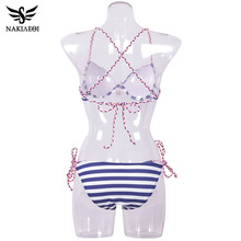 NAKIAEOI  Sexy Bandage Bikini Push Up Swimwear Women Brazilian Bikini
