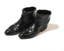 Male Shoes 1/6 Scale Black Leather Boots Shoes Model Toys Kumik S-3 For 12″ Action Figure Body Accessory