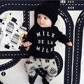 Nova roupa Do Bebê Do outono menino roupas de algodão de manga longa carta t-shirt + calças recém-nascidos 2 pcs terno meninos bonitos do bebê conjunto de roupas
