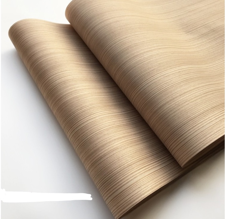 1Piece  L:2.5meters Width:55cm Technology Wood Skin Straight Lines Wood Veneer