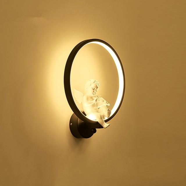 Online Shop GZMJ Wonderland Modern Wall Lamps Black White Round Wall ...