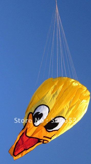chinese new 3D soft parafoil kite yellow duck kite single line flying kite 1.8m