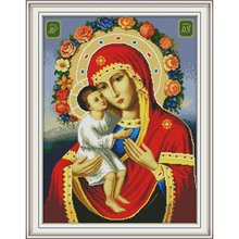 Joy Sunday Religious figure 9 Chinese cross stitch kits Ecological cotton clear stamped printed 14 11CT DIY decorations for home