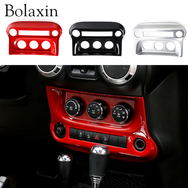 Bolaxin Interior Accessories Trim ABS Center Radio Dash Console Cover Trim  For Jeep Wrangler 2011
