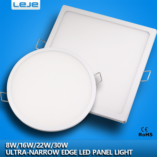 Ultra Narrow Edeg Led Round Square Panel Light Downlight Smallthin Conceal Driver With Snap