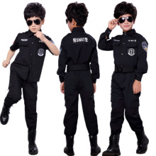 1876021c Teenager Boys Army Suit Military Uniform SWAT Police Men Women Cosplay  Costumes Fancy Halloween Party Wear