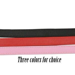 Image 2 - Tanqu New Short Colorful Flat PU Belt Drop End With Long Chain For Obag handle For O bag Women bag Handle bag EVA bag