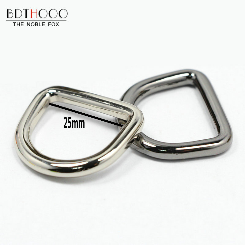 BDTHOOO 10pcs Metal Wire D Buckle D Ring for DIY Handbag Strap Holder Semi-circular Buckle Bags Hardware Accessories Zinc Alloy metal ring holder for smartphones silver