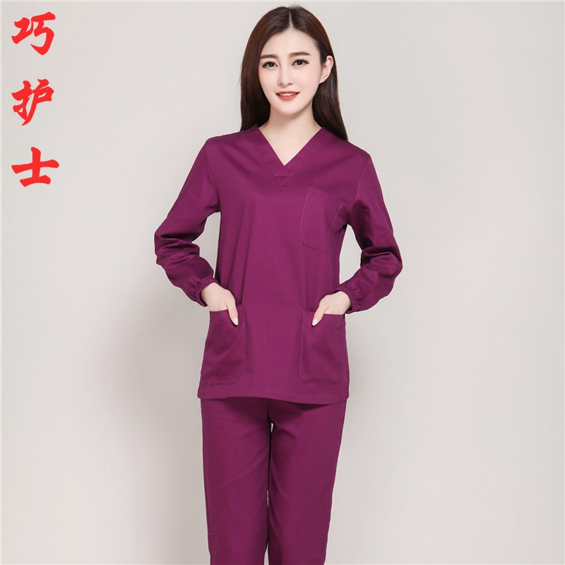 Brush hand to dress the nurse to dress the dress suit beauty hospital overalls