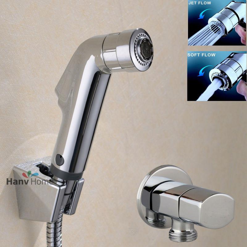 Toilet Bathroom Hand Held Bidet Spray Diaper Shower Sprayer Set ...