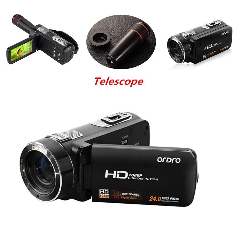 Full HD 1080 P appareils Photo numériques professionnels avec télescope 16X enregistreur vidéo Mini caméscope DV appareil Photo Compact Anti-secousse