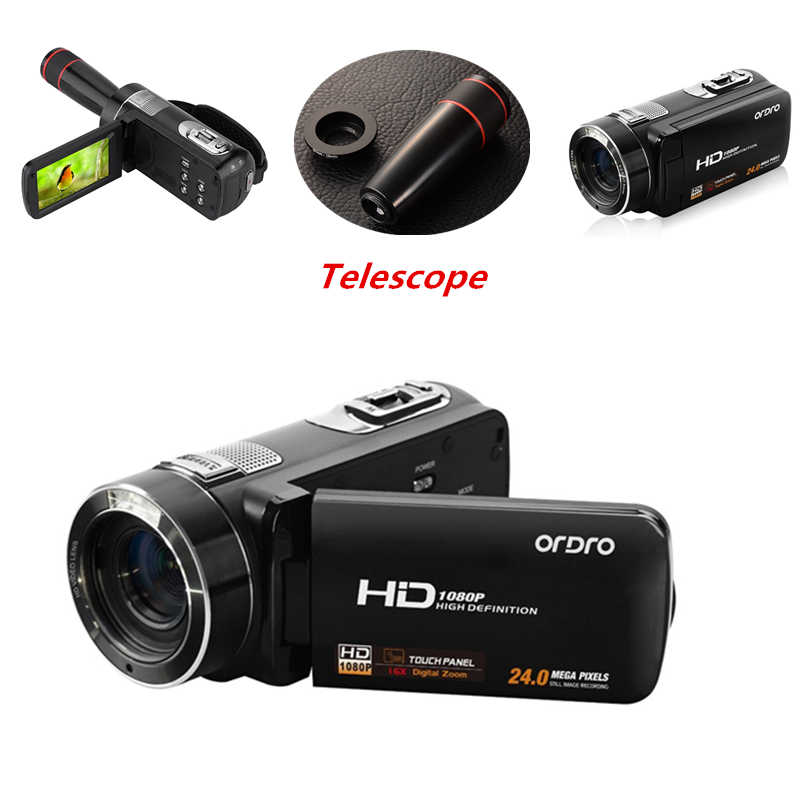 Full HD 1080P Professional Digital Photo Cameras with Telescope 16X Video Recorder Mini Camcorder DV Anti-shake Compact Camera