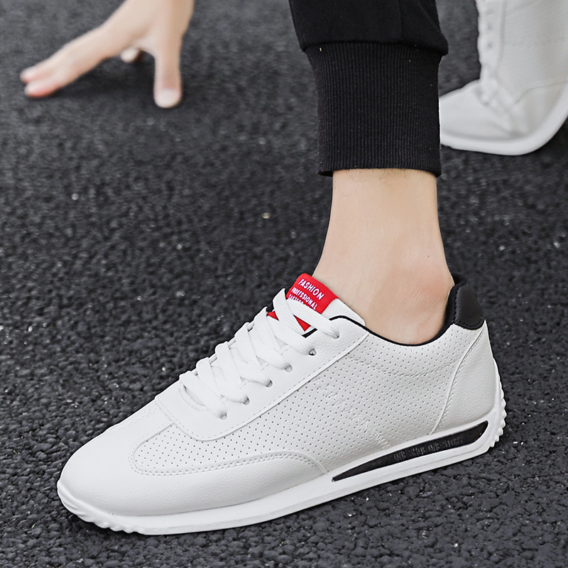 BVNOBET Summer New Fashion Lovers Couples Shoes Hole PU Leather Simple Women Casual White Sneakers Cheaper Skateboard Shoes