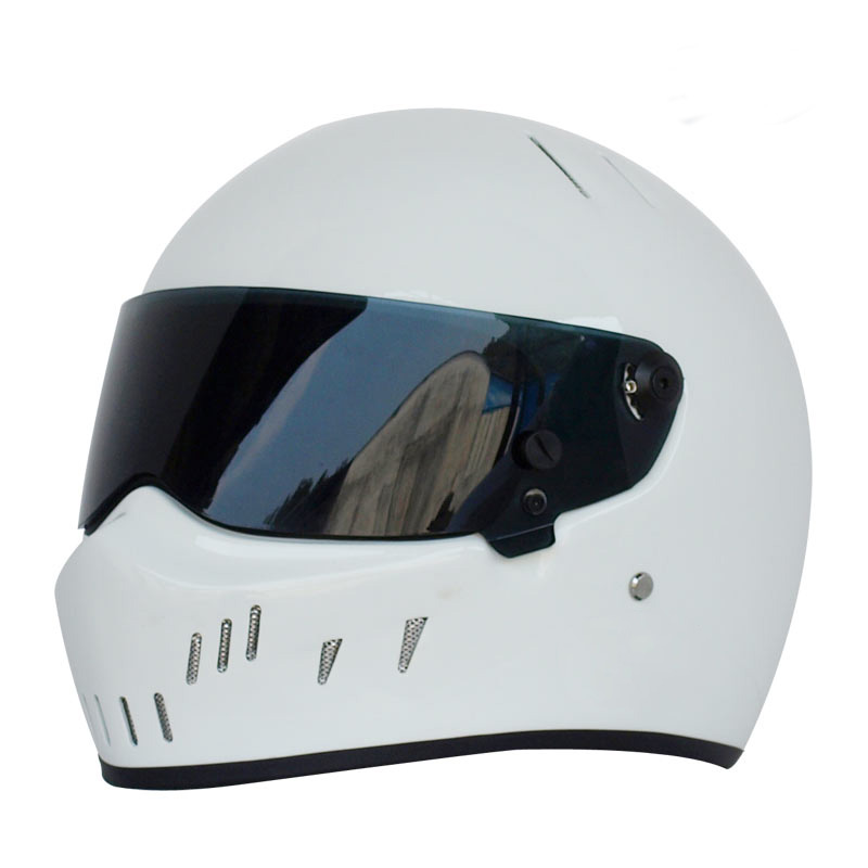 TopGear Le Stig Casque Intégral Moto Moto Karting Voiture Cosplay Racing Casque Blanc