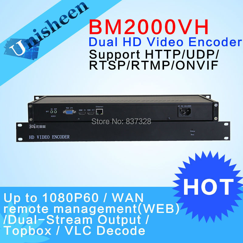 H.264 HDMI VGA Encoder Dual Real-Time Stream 1U
