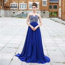 fashion luxury evening dresses 2016 Sweetheart crystal Blue women formal A-Line Chiffion pageant dress for party x1461
