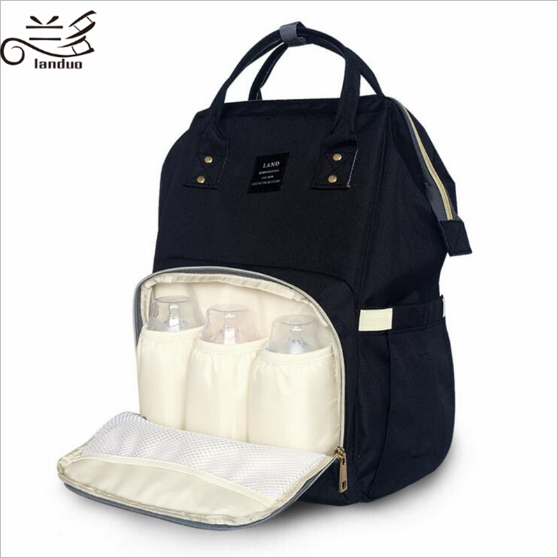 HTB14M.VuAyWBuNjy0Fpq6yssXXaD Authentic LAND Mommy Diaper Bags Mother Large Capacity Travel Nappy Backpacks anti-loss zipper Nursing Bags for baby  MPB01