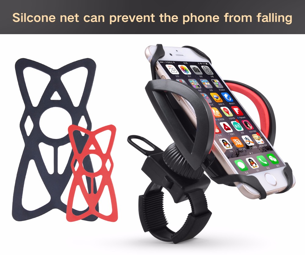 Cobao חומר ABS אוניברסלי אופנוע אופניים אופניים אביזרים הכידון הר טלפון נייד בעל לעמוד