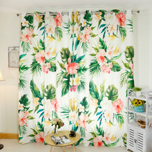 Senisaihon 3D Blackout Curtains Tropical Rainforest Big Leaves Pattern Thickened  Fabric Bedroom Window for Living Room