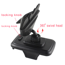Rotary Car CD Slot GPS Tablet Mobile Phone Mount Stand Holders For Galaxy Note 5 4