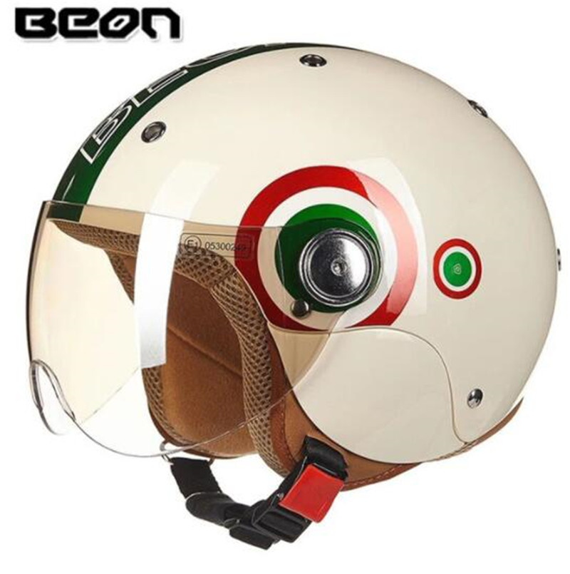 Frugal Beon Motorcycle Helmet Motorcycle Scooter 3/4 Open Face Halmet Motocross Vintage Casque Moto Casque Casco Motocicleta Capacete Fine Quality Back To Search Resultsautomobiles & Motorcycles