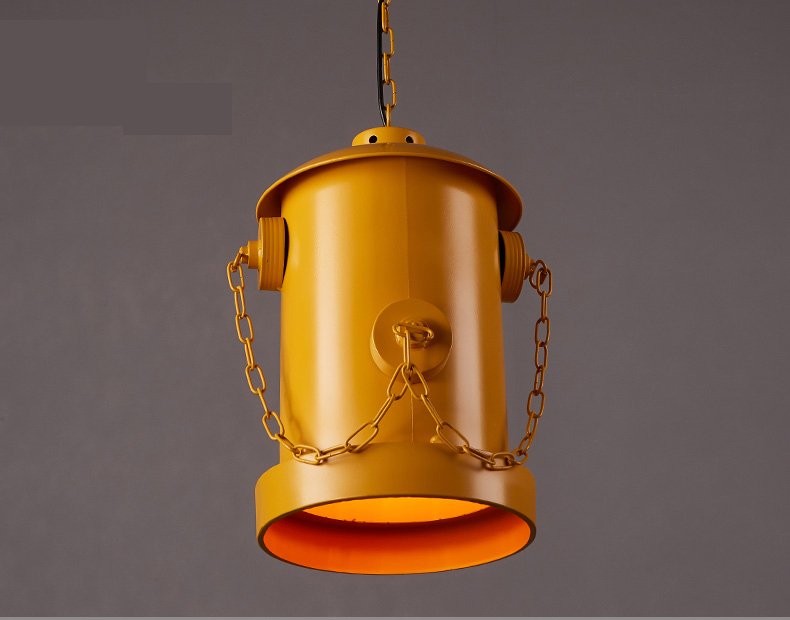 Loft industrial wind red/ yellow iron coffee bar creative art lighting fire hydrant redpendant lights retro pendant lamps GY280